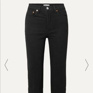 NWT Re/Done Stove Pipe High Rise Cropped Denim